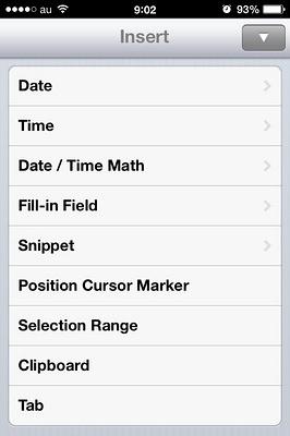 iPhone便利なライティングアプリText Expander