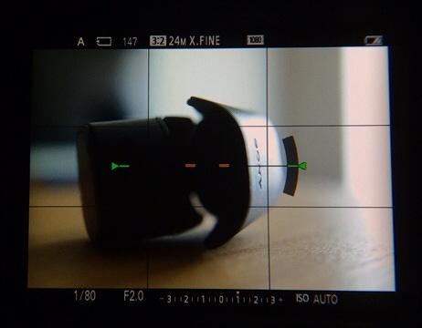 RX1R用電子ビューファインダーFDA-EV1MKレビュー ファインダーをのぞいたところ