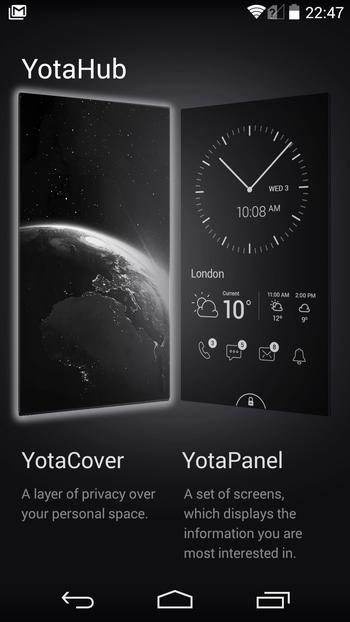 yotaphone2 YD206 使用レビュー