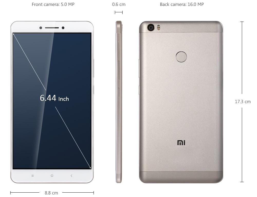 Xiaomi Mi MAX サイズ感の説明参考画像