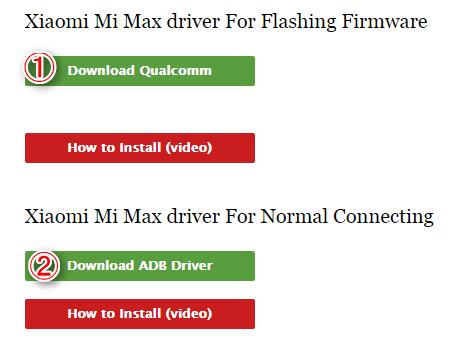Xiaomi Mi MAX 用ドライバーインストール方法説明参考画像