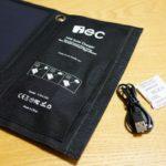 iEC ソーラー充電器 USBソーラーチャージャー レビュー EC TECHNOLOGY