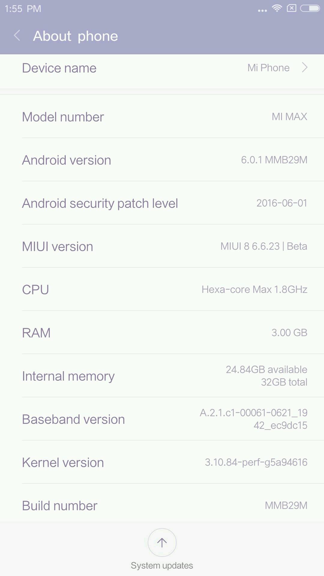 Xiaomi Mi MaxをMIUI8にアップデートする方法