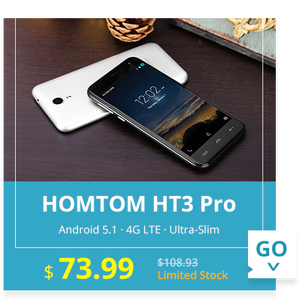 HOMTOM HT3 Pro 5.0 inch 4G Smartphone Android 5.1 MTK6735 64bit Quad Core 2GB RAM 16GB ROM Dual Cameras OTA GPS 2.5D Screen  -  SILVER