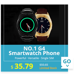 NO.1 G4 Smartwatch Phone MTK6261 1.2 inch Round Dial IPS Screen Bluetooth 3.0 Pedometer Heart Rate Measurement  -  BLACK LEATHER BAND