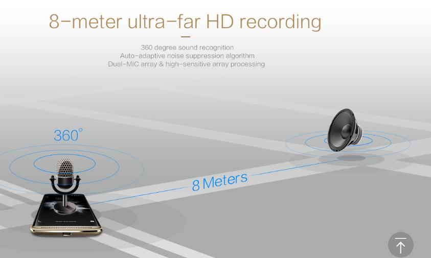 ZTE AXON 7のここがすごい!8m離れた場所の音を録音可能