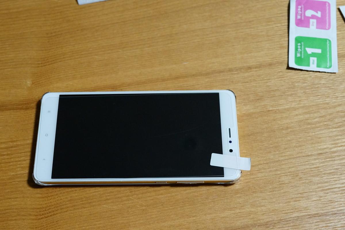 Xiaomi Mi5S PLUSのケースとガラスの購入 ガラスの参考写真