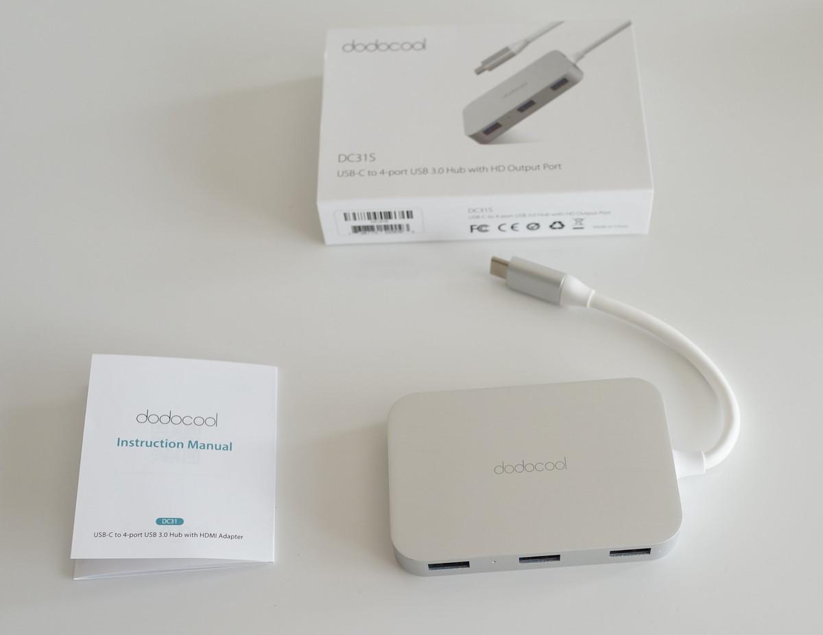 dodocool 3in1 USB3.0  Type-Cハブレビュー 外観写真