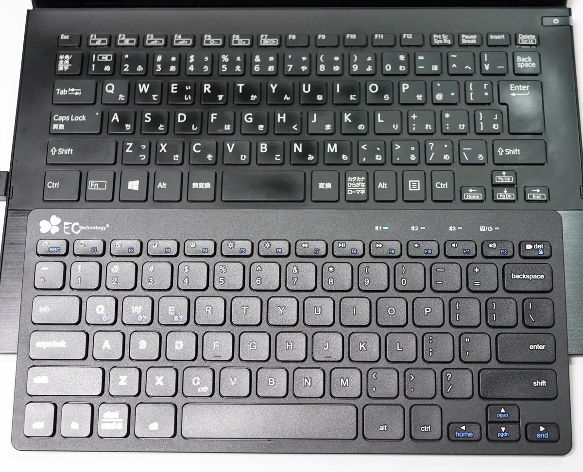EC Technology Bluetooth マルチデバイス キーボードレビュー Windows,iOS, Android対応