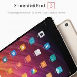 Xiaomi Mi Pad 3 がさっそく割引クーポンでセール中。