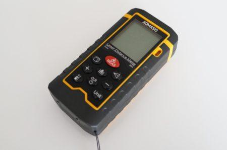 Aomaso ポータブルレーザー距離測定器レビュー IP54防塵 防水性能!