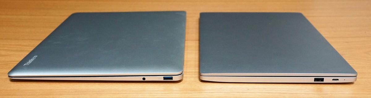 CUBE Thinker レビュー Xiaomi Mi Notebook Air との見た目比較参考画像