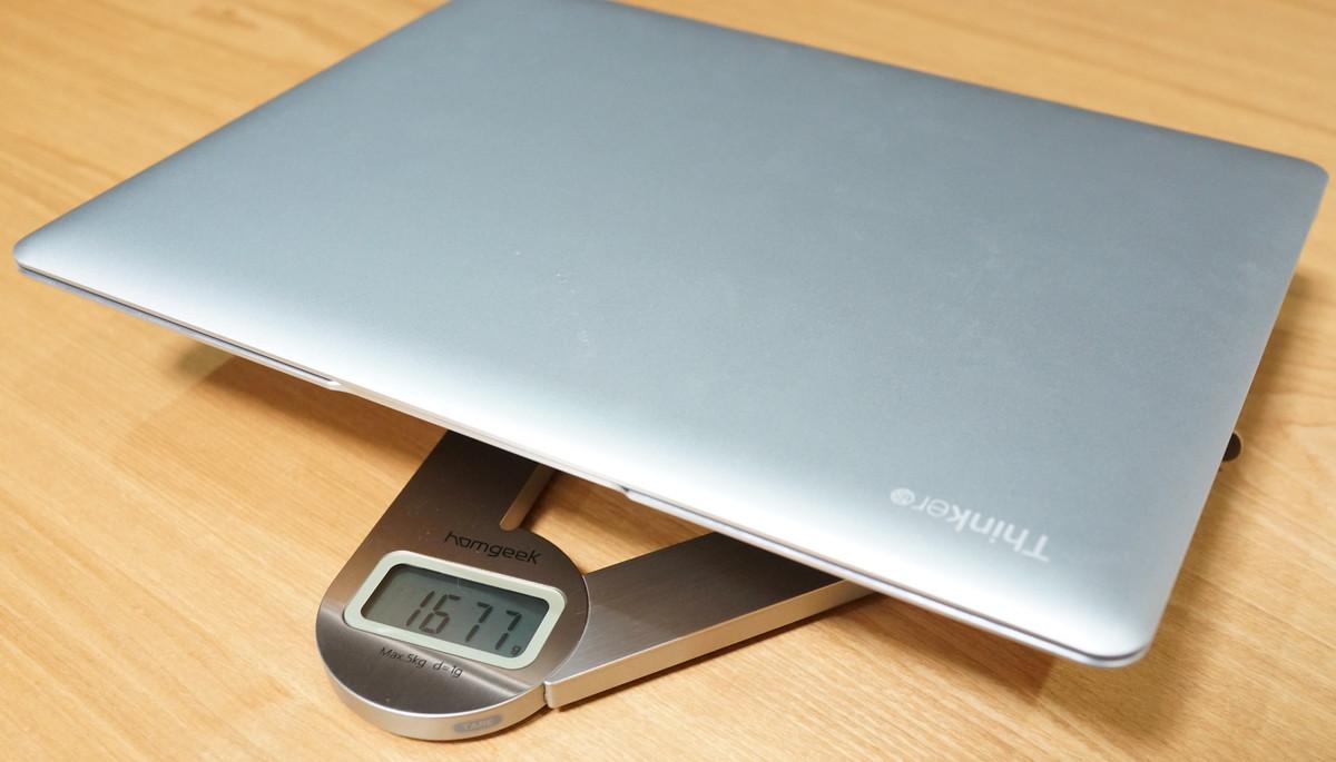 CUBE Thinker レビュー 本体重量の参考画像