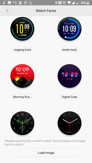 HUAMI AMAZFIT スマートウォッチレビュー 専用アプリでディスプレイを変更する作業の詳細説明2