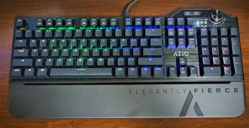Azio 茶軸メカニカル USBゲーミング キーボードレビュー  RGB LEDバックライト付き