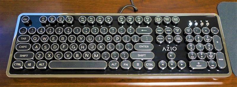 Azio MK RETRO メカニカルキーボード タイプライターレビュー 外観参考画像