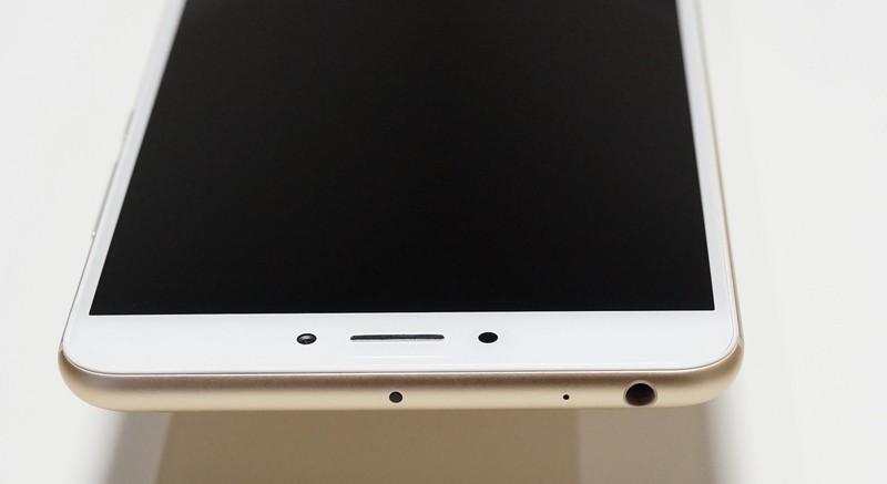 Xiaomi mi max 2 レビュー 外観写真 上から見たところ