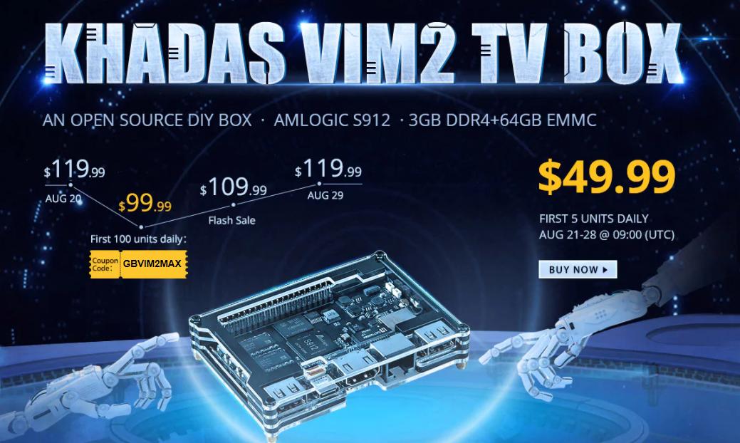 Khadas VIM2 Max TV Box GearBest独占発売製品セール中【8/28迄】