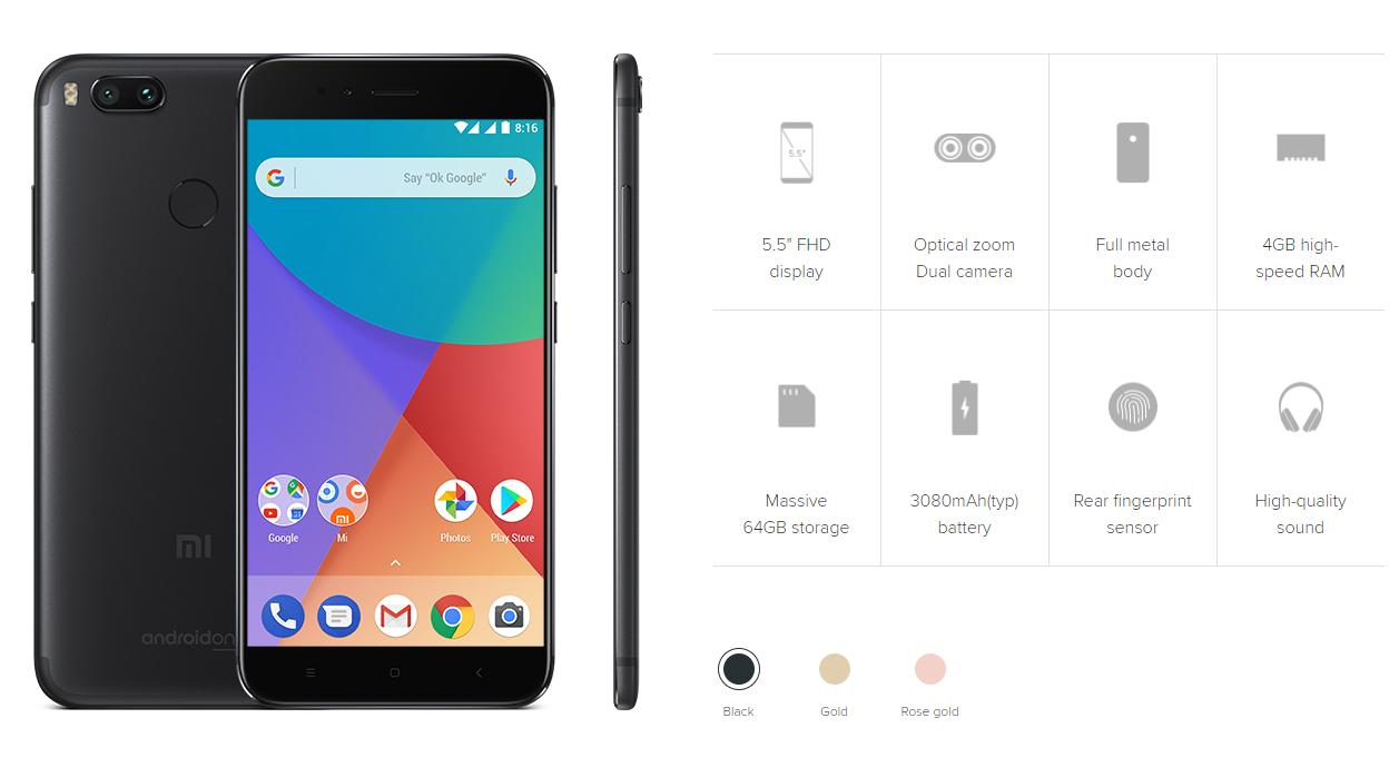Xiaomi Mi A1 スペック詳細