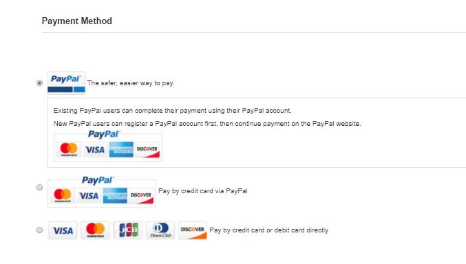 支払い方法の選択について