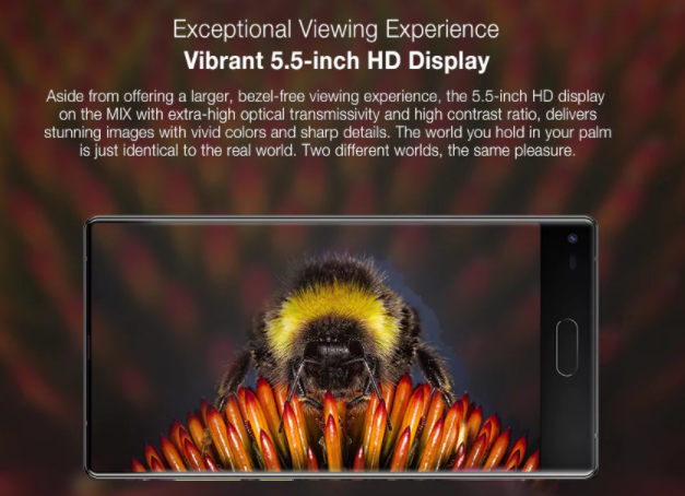 Ulefone Mix 内側1300万画素カメラ搭載自撮り好き向けの極薄ベゼルスマホ