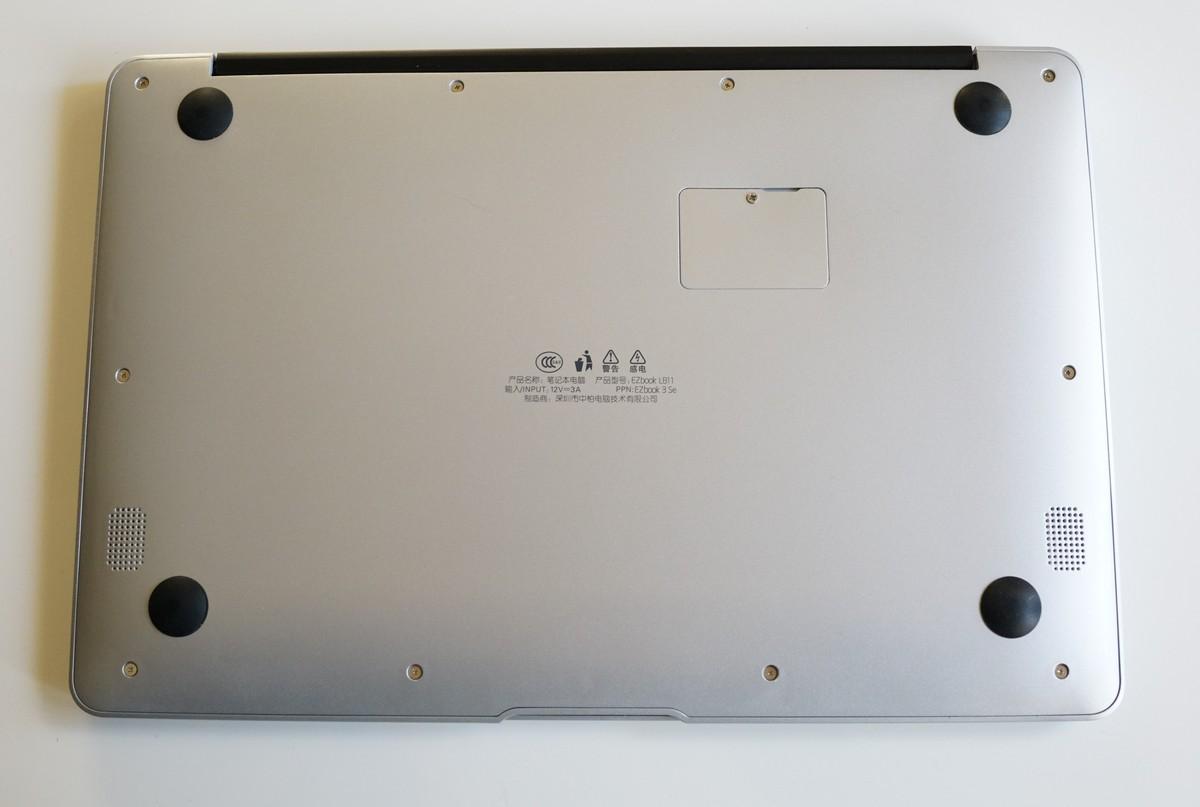 Jumper EZbook 3SE 実機レビュー 背面の説明参考画像