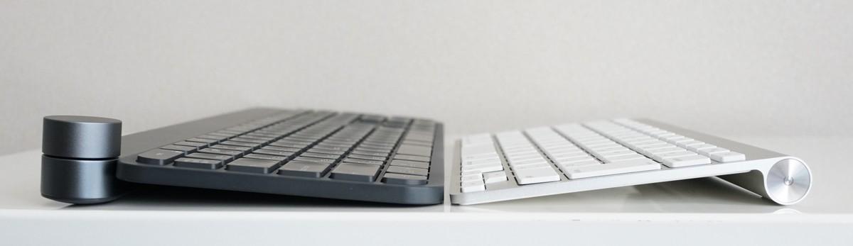 CRAFTとAppleのキーボードの比較