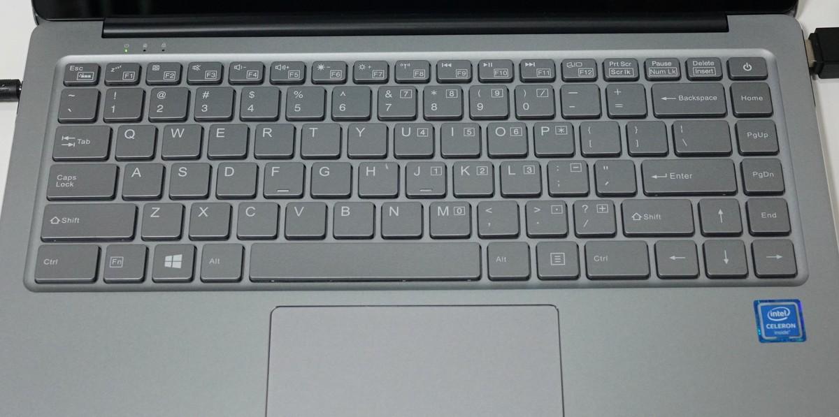 CHUWI Lapbook Air レビュー キー配列の説明参考画像