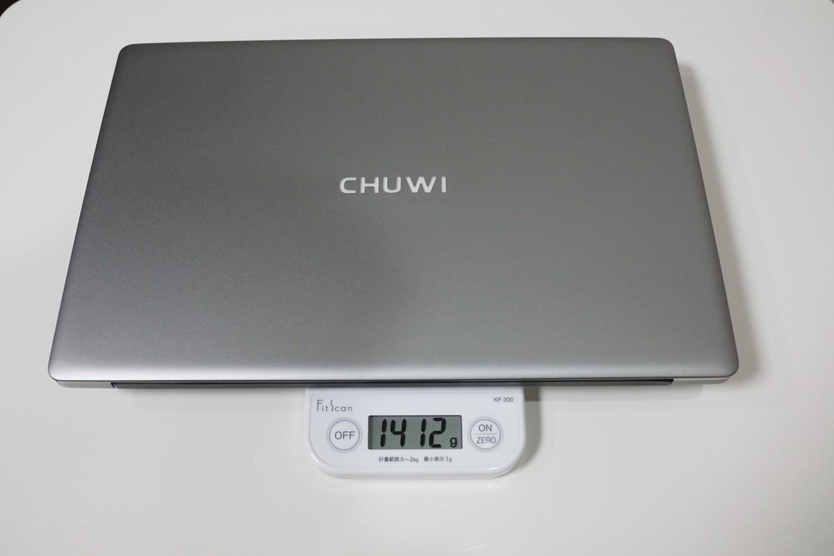 CHUWI Lapbook Air レビュー 重量について