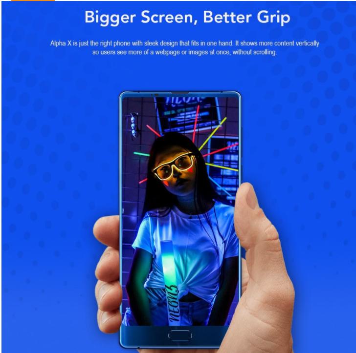 Maze Alpha X 画面占有率89.6%の縦型6インチスマホがGearBestでセール中!