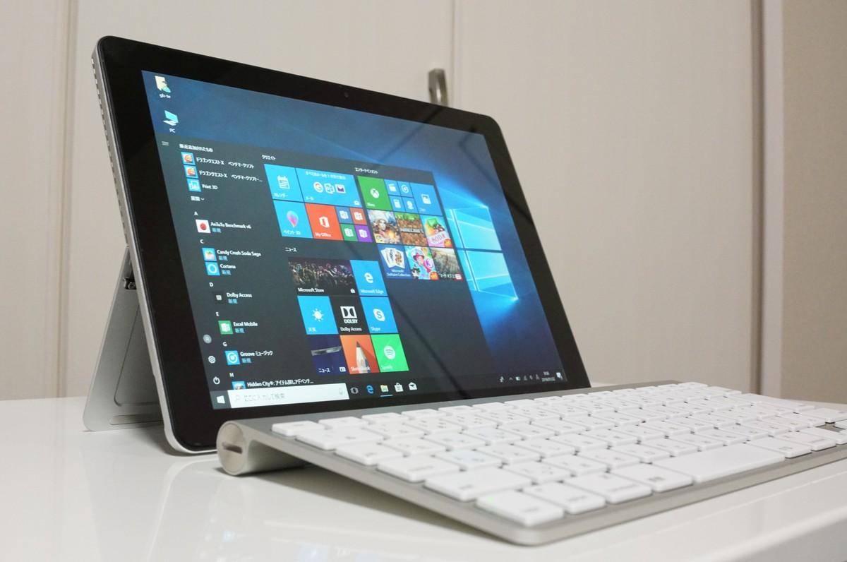 Chuwi SurBook Miniの実機レビュー ディスプレイはグレア液晶
