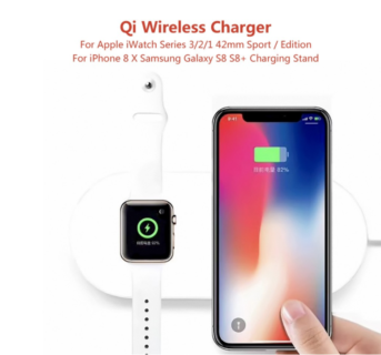 Apple iWatchとiPhoneが一緒に充電できるQi Wireless Chargerがcafagoクーポンで$30.19で販売中!