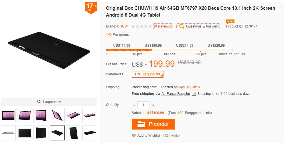 Chuwi Hi9 Air 購入