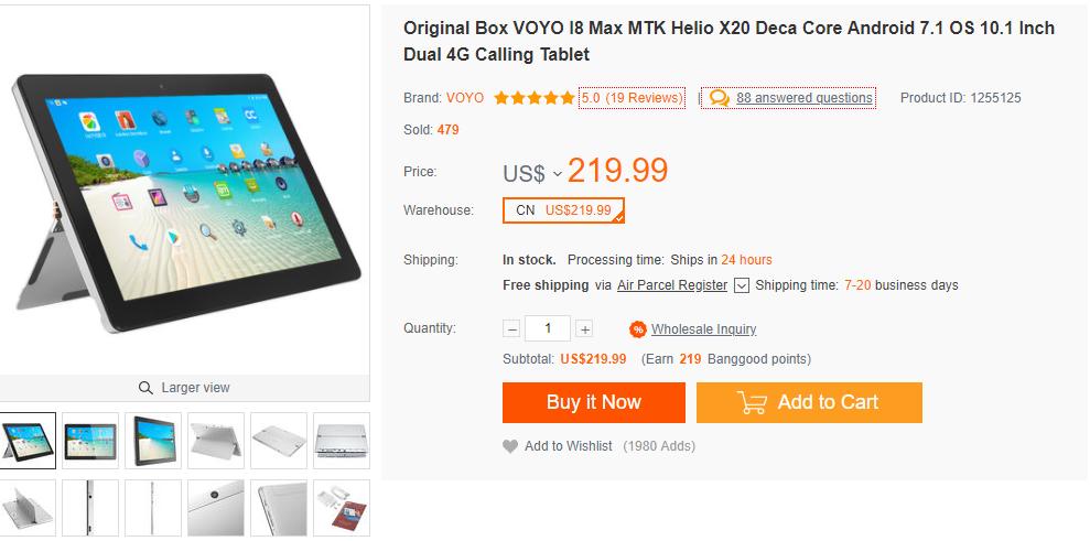 VOYO i8 Max 日本からの購入最安値