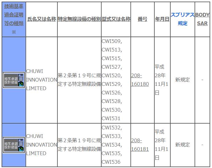CHUWI Hi13 技適取得ありのタブレットPC ラップトップ