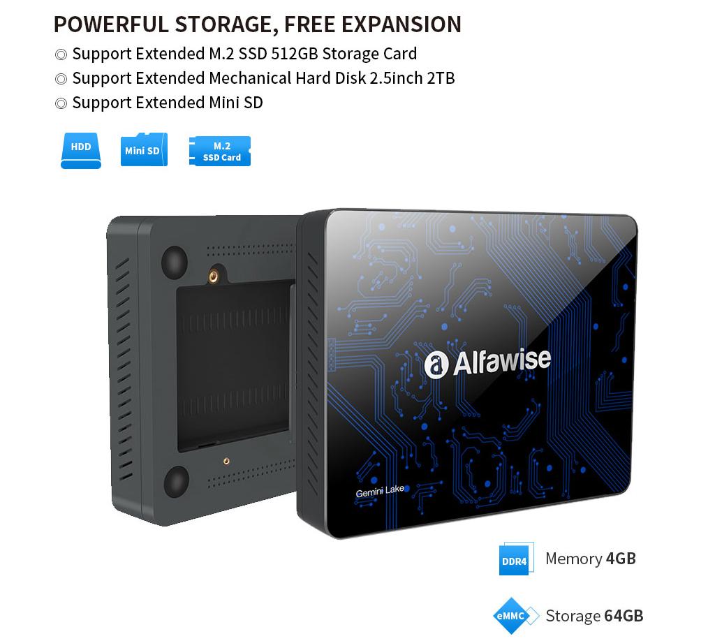 Intel Gemini Lake N4100搭載のmini PC Alfawise T1 Mini PC が$199.99でプレセール開始!
