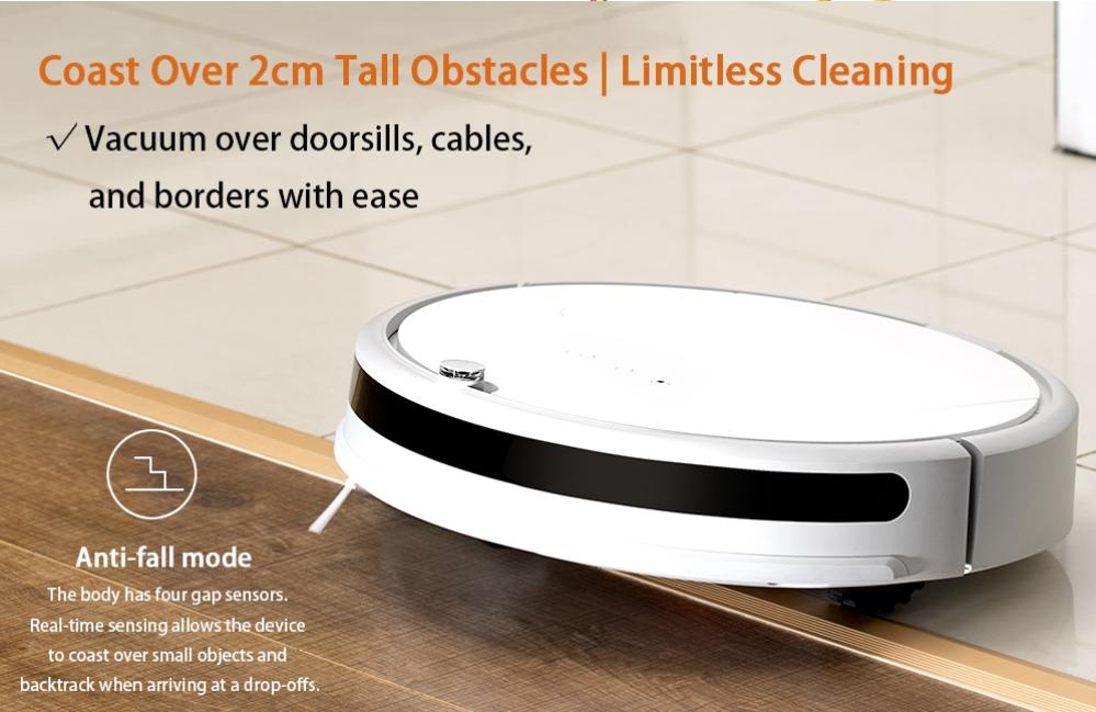 1600Paの吸引力のロボット掃除機 Xiaomi Roborock Xiaowa Lite Vacuum Cleanerが$149.99