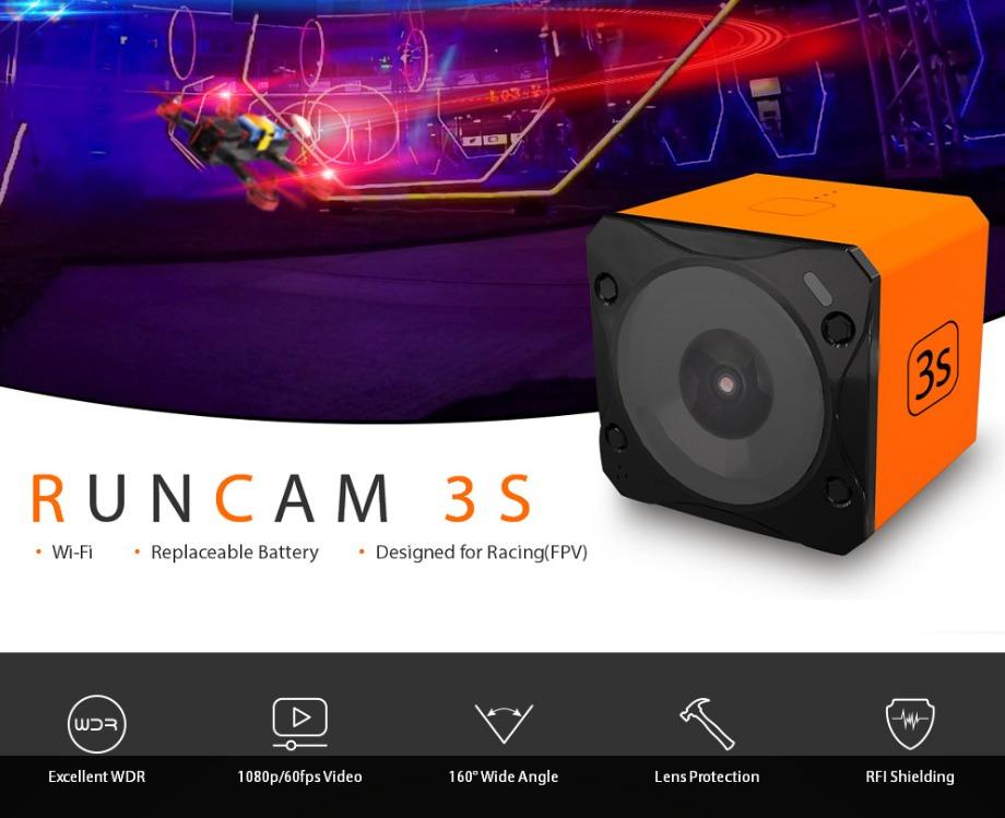 RunCam 3S 1080P 60FPS撮影可能なアクションカメラが$96.99でセール中!