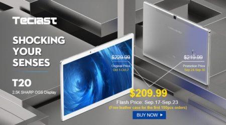 【クーポンで$149.99】Teclast T20 10.1インチ2K解像度でLTE対応のハイスペックAndroidタブレット