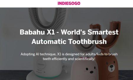 世界初のAI駆動のU字型自動歯ブラシ「BABAHU X1」がINDIEGOGOから販売開始です