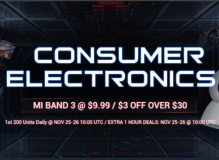 GearBestの電子セール会場で本日19:00よりMi band 3が先着200名限定$9.99で販売中!