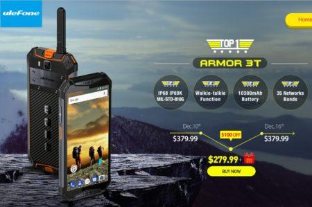 【セールで$249.99】「Ulefone Armor 3T」トランシーバー機能を搭載したB19対応タフネススマホ