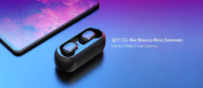 QCY T1C/T1 TWS Dual Bluetooth 5.0 Earphones