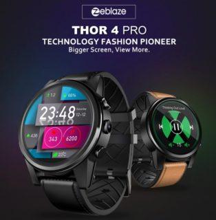 【クーポンで$94.99】「Zeblaze Thor 4 PRO」LTEのB8対応でAndroid7.1搭載のスマートウォッチフォン