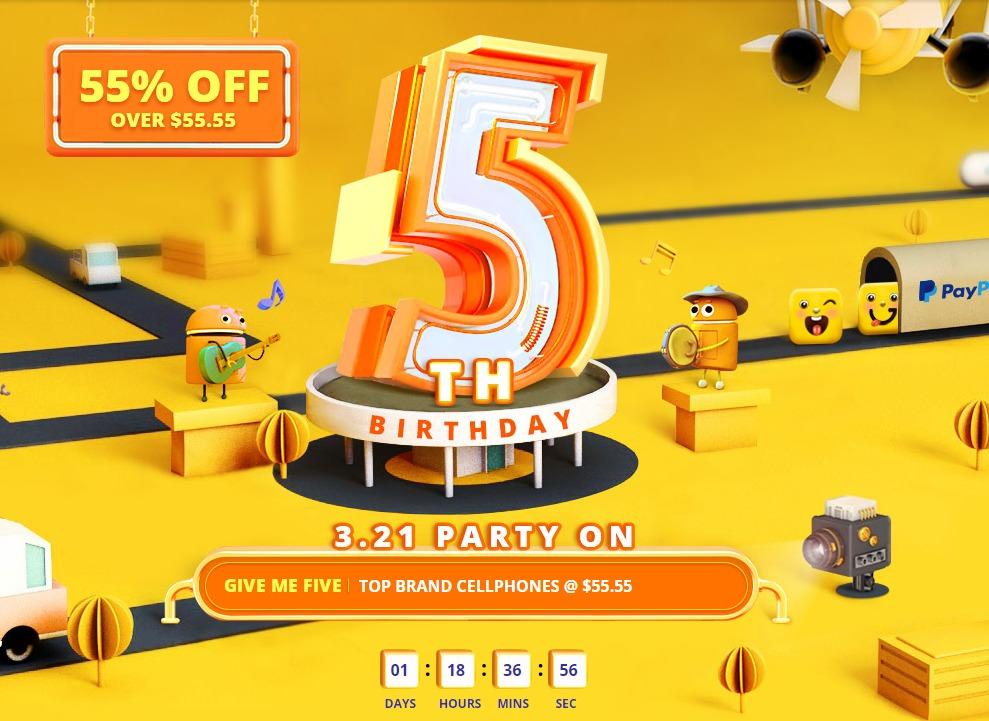 GearBest5周年セール