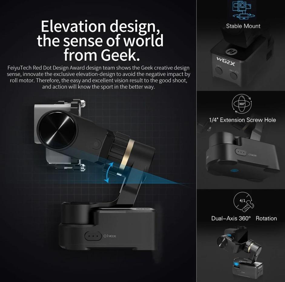 FeiyuTech WG2X 3 Axis Wearable Action Camera Gimbal
