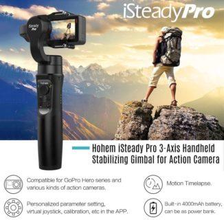 【セール価格$66.73】Hohem iSteady Pro アクションカメラ用3軸ジンバル
