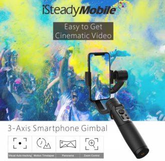 【セール価格$67.99】280gまで対応のHohem iSteady Mobile スマホ用の3軸ジンバルスタビライザー
