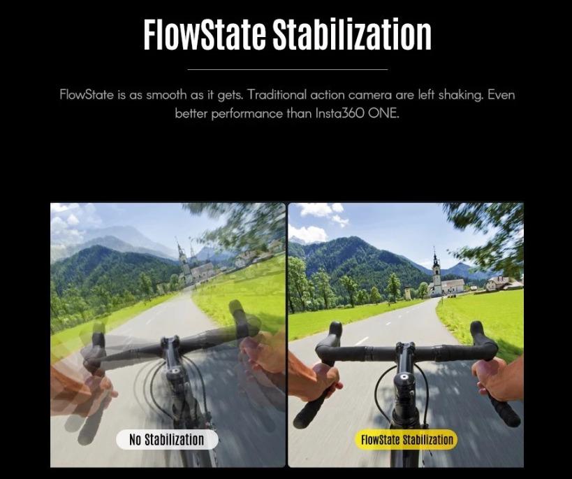 FlowState搭載驚異の手振れ補正機能つきアクションカメラ「Insta360 ONE X」