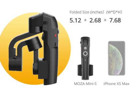 折り畳み可能でコンパクトに持ち歩けるスマホ用スタビライザー「MOZA Mini-S」が¥7796でセール中!
